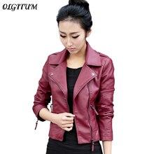 XS-4XL Hot Sale 2019 New Women Spring Autumn Jacket Black/Red Fashion Female Coa