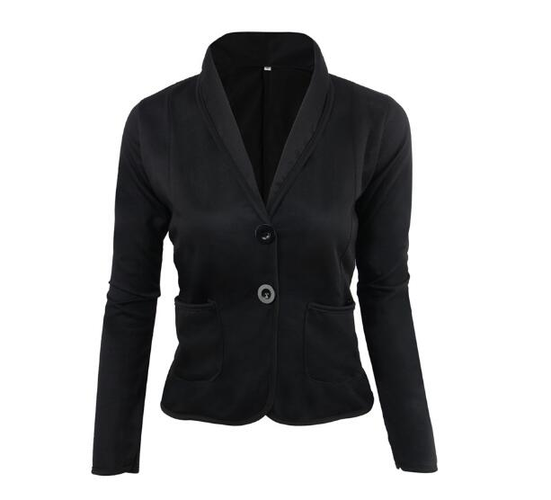 Spring Women Blazer Brand Jacket Made Of Cotton Basic Jackets Candy Color Long Sleeve Slim Suit Blazer Female Small Suit