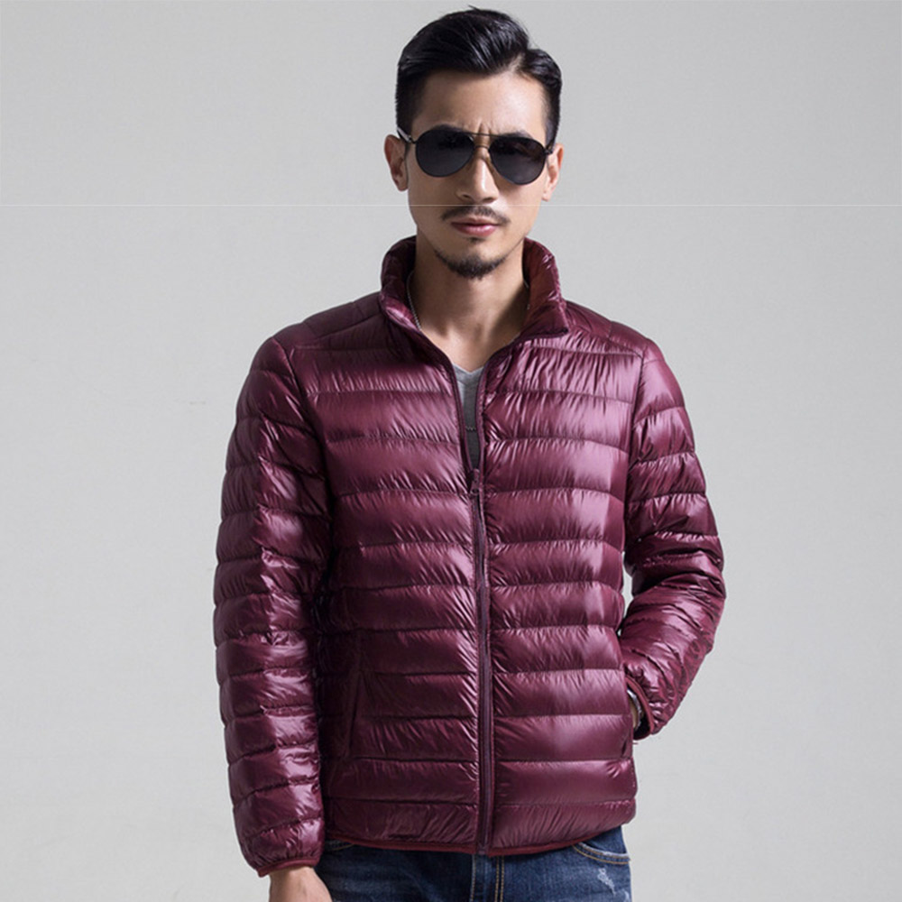 4efba8bd0cd Aliexpress.com   Buy BOoDinerinle Spring Autumn Thin White Duck Down Jacket  Men Casual Ultralight Male Feather Jackets Coat Ultra Light Coats YR028  from ...