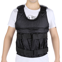 MAYITR Black 20KG 50KG Adjustable Exercise Fitness Training Equipment Workout Waistcoat Vest Jacket Oxford Fabric