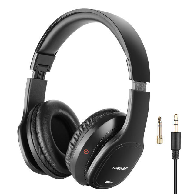 Neewer HD100 Studio Monitor Headphones-Dynamic Foldable Headsets with 40mm Loudhailer