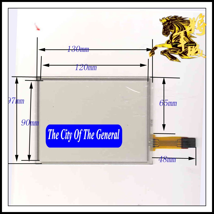 GENCTY For 5.8-inch four-wire resistive touch screen 130 * 97 W-X