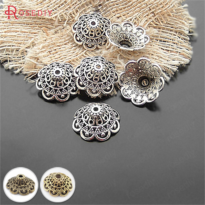 Silver-Plated Jewelry-Accessories Beads-Caps Diy Handmade Antique Wholesale Big 20474