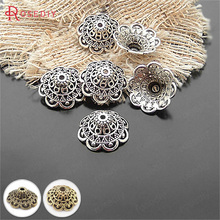 (20474)20PCS 8*18MM Antique Silver Plated Alloy Big Beads Caps Diy Handmade Jewelry