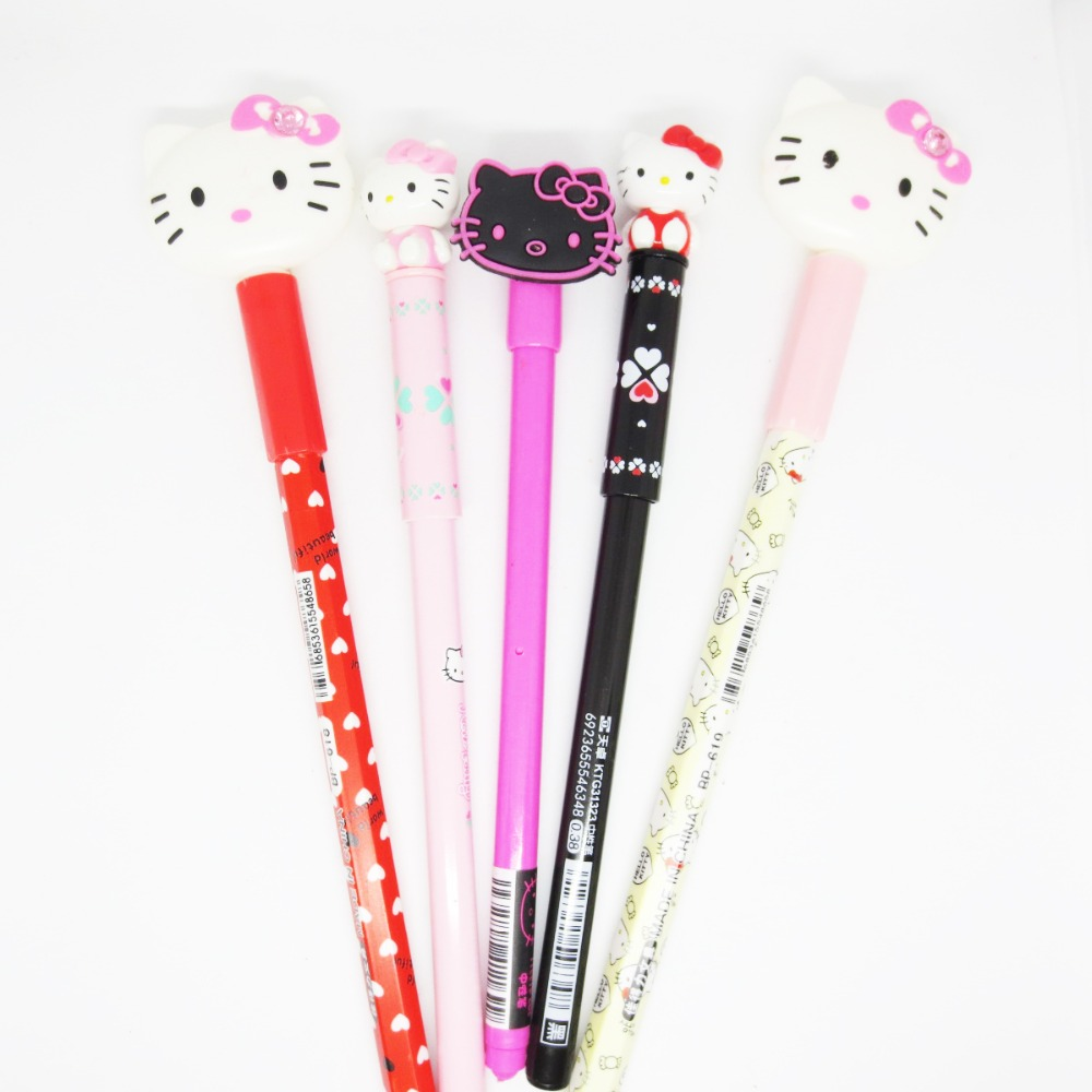 Cute Cartoon Hello Kitty Gel Pen Children's Homework Writing Stationery Pen Office Signature Pen