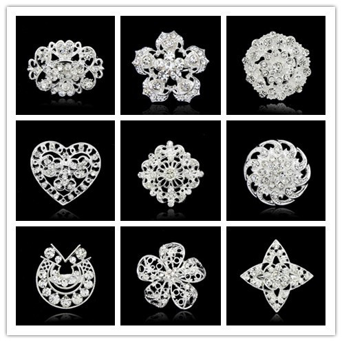 Vestido de Noiva moda broches de plata vintage cristal broche para ...