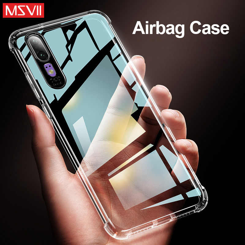 MSVII Anti-Knock Case For Huawei honor 10 Clear Protective Soft Silicone Case huawei p20 mate 20 X pro Lite p10 pro Nova 3E Capa