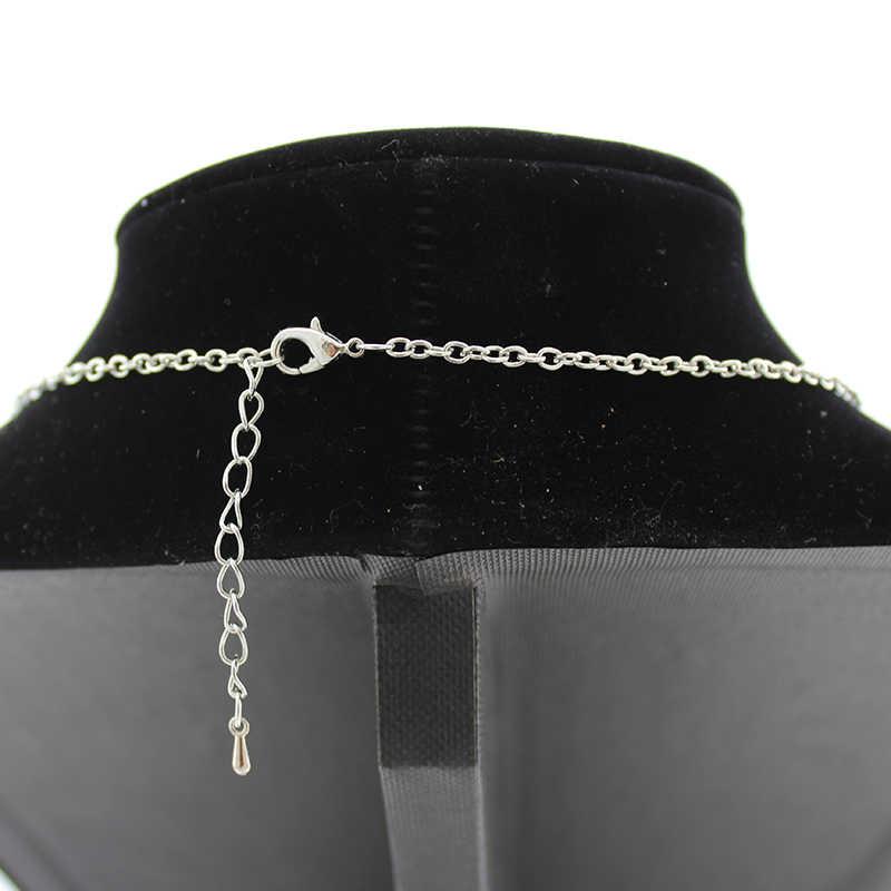 TAFREE moda postać z kreskówki klaun szklana kopuła Snap wisiorek naszyjniki posrebrzane komunikat naszyjniki kobiety biżuteria CT03