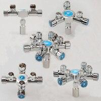 aquarium co2 spliter multi way 2/3/4/5/6 way with independent regulator needle valve