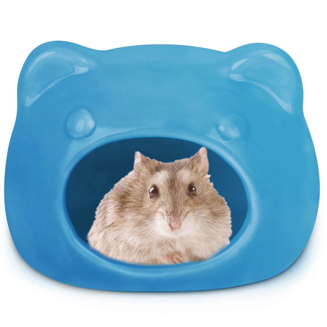 Cute Hamsters Ceramic Nest Hamsters Cave font b Pet b font House Cat Head Shape Hideout