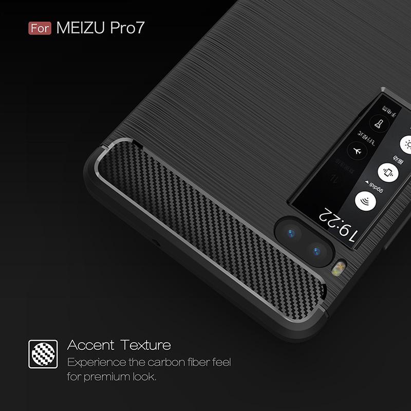 carbon fiber silicon case meizu pro 7 (3)