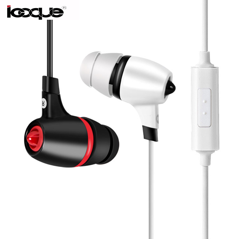 Icoque Wired Earphone With Microphone Stereo Music Headset 3.5mm In-ear Earphone For Mobile Phone iPhone Samsung Xiaomi PC MP3 3 5mm in ear cloth wire headset earphone music headphone without mic for mp3 iphone samsung mobile phone watch moive for mp4