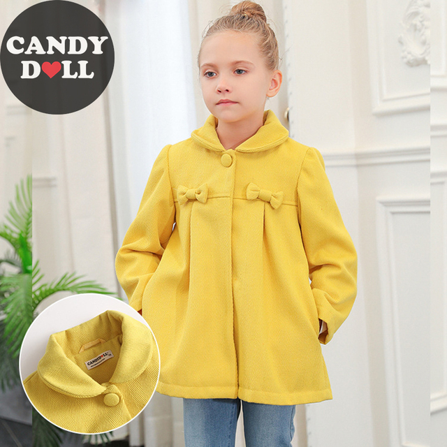 1a4907ea6 CANDYDOLL Autumn Girls Outerwear New High end Blended Jacket ...