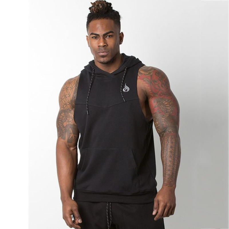 Tank Top Men Stringer Workout Vest gym (16)