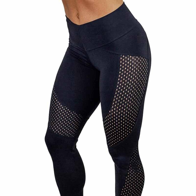 2018 New Quick-drying Yarn Leggings  Fashion Ankle-Length Legging Fitness Black Leggins 1