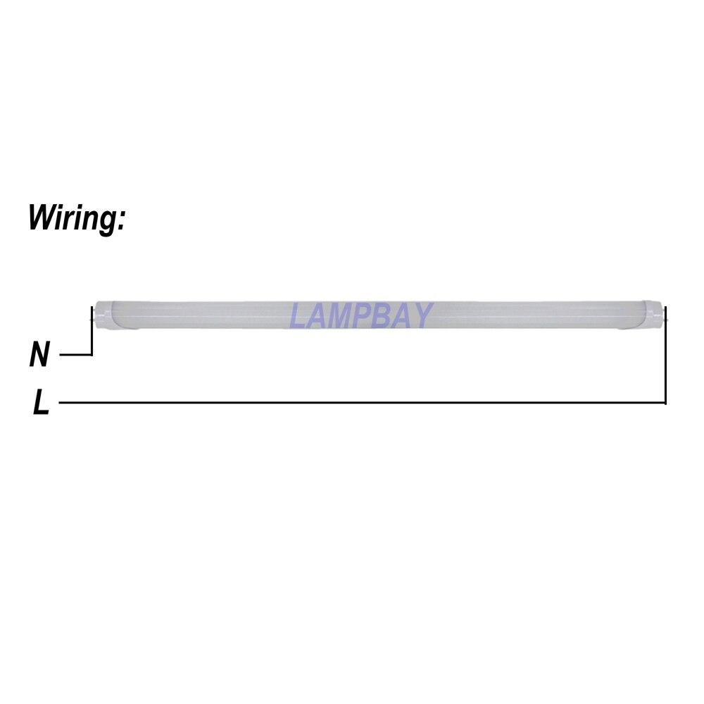 4-100/paquet LED Tube lumière 2ft 3ft 4ft 5ft 6ft ampoule de modification T8 G13 bi-pin lampe fluorescente 0.6 m 0.9 m 1.2 m 1.5 m 1.8 m m barre d'éclairage - 4