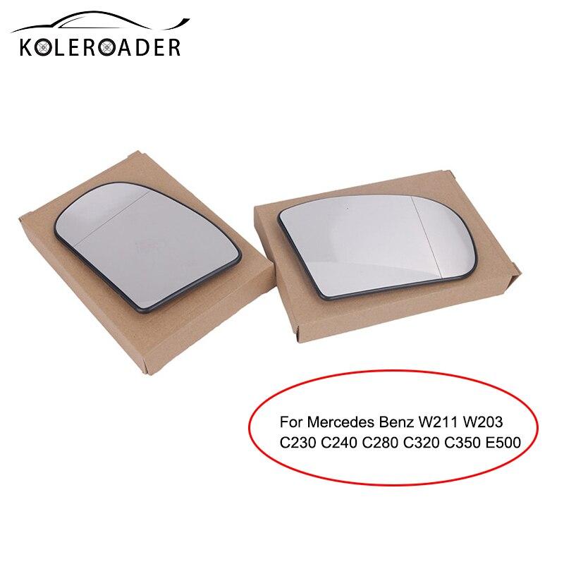 Car Heated Rearview Mirror Glass For Mercedes Benz W211 W203 C230 C240 C280 C320 C350 E500 Ersatzglas Spiegelglas