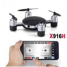 Радиоуправляемый Дрон x916h 2.4 г 4ch 6 осевой гироскоп с Wi-Fi HD FPV Камера RC Quadcopter RTF Mini дроны реального -Время смартфон приложение Управление игрушки