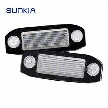 SUNKIA 2 шт. автомобилей Canbus светодио дный лицензии пластины для Volvo XC90 S40 V60 XC60 C70 V50 XC70 V70 белый авто стиль номер лампа