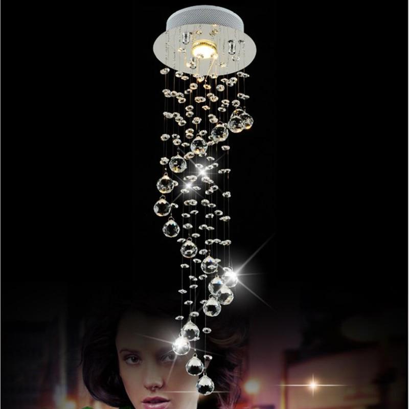Современный блеск светодиодный Кристалл осветительная люстра в виде подсвечника для гостиной Хрустальный aviseler люстры Потолочный подвесной