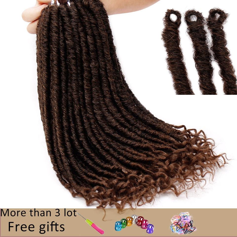 Candid Goddess Locs Crochet Hair Faux Locs Synthetic Braiding Hair Extensions 18 Inch Soft Natural Kanekalon Hair Pure And Mild Flavor
