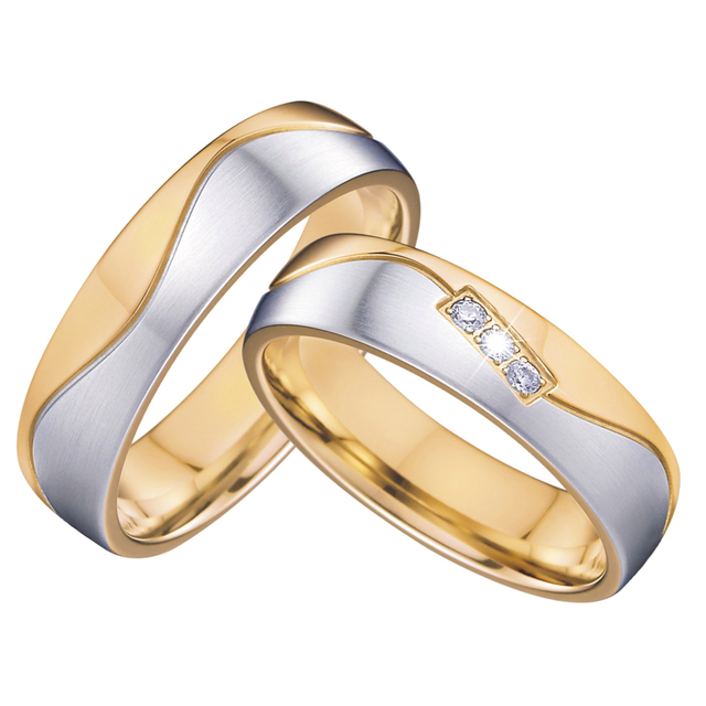 Vintage jewelry wedding band couple rings pair for him and her