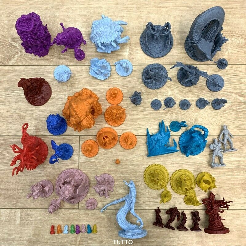 Lot 5 PCS Dungeons & Dragon D & D Cthulhu Wars Board Game Miniatures Figures Dragons Figure NO STAND Random -No Repeat