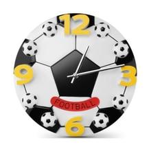 Top Fashion Cartoon Wall Clock Personalized Customization Football Basketball Hanging Clocks Plastic Living Room Decorations