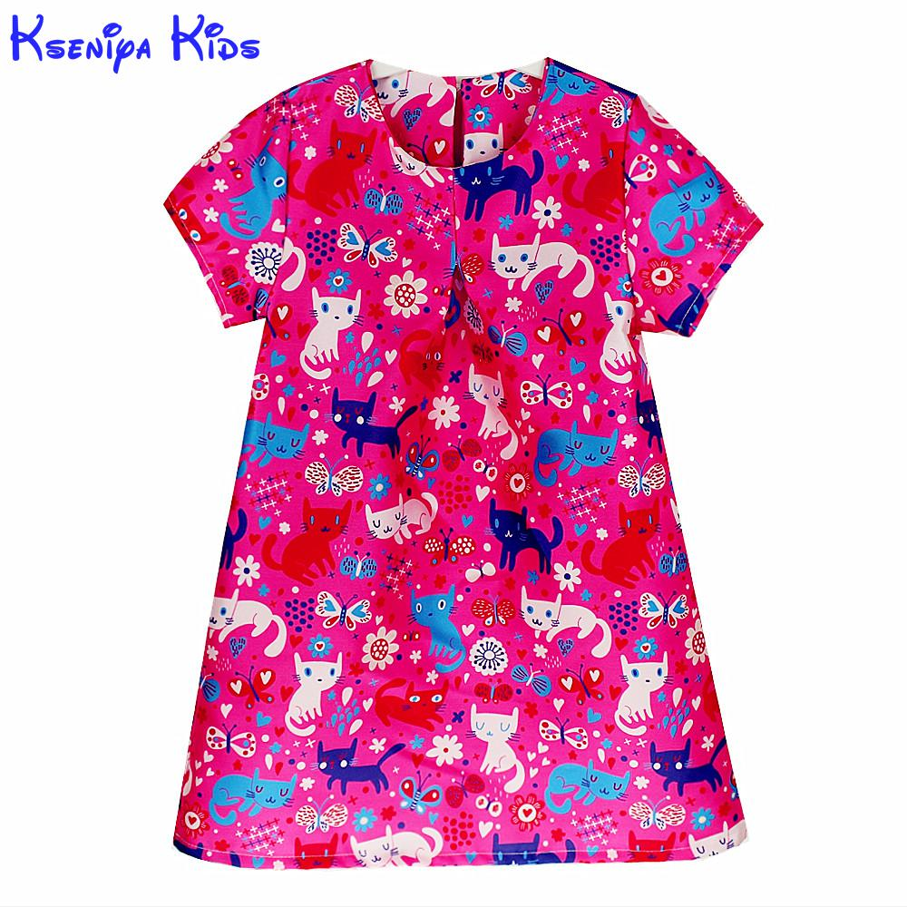 Kseniya Kids 2017 Autumnwinter Princess Dress Kids Clothes Graffiti Print Design For Baby Girl 2