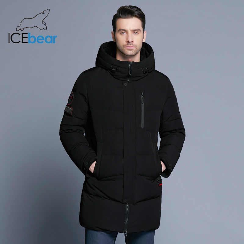 ICEbear 2019 מכירה לוהטת חורף חם Windproof הוד גברים מעיל חם גברים מעיילים באיכות גבוהה Parka אופנה מזדמן מעיל MWD18856D