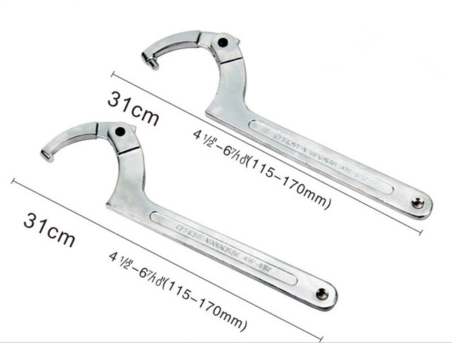 Adjustable Spanner Manufacturers Mail: Aliexpress.com : Buy Round Nut Adjustable Hook Type Wrench