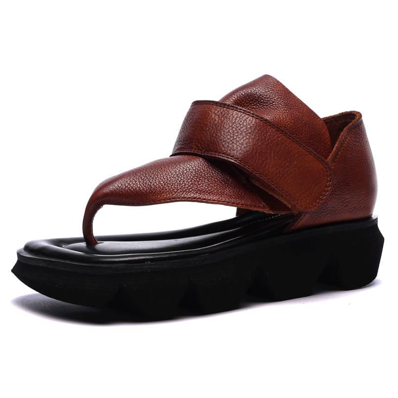 Sandales d'été tongs en cuir chaussures femmes sandales décontracté confortable clip toe femme sandales femmes chaussures de sport