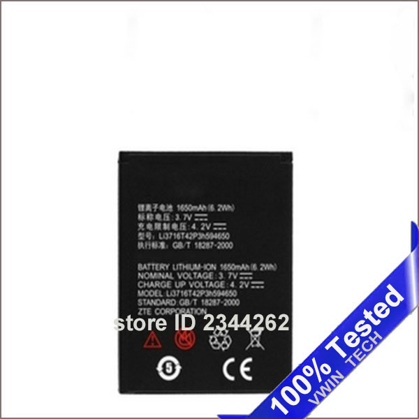 1600mah New <font><b>Battery</b></font> LI3716T42P3h594650 <font><b>Battery</b></font> For <font><b>ZTE</b></font> U970 v807 V930 U930 N970 <font><b>V970</b></font> V889S V889M U795 Phone <font><b>Battery</b></font> <font><b>Batteries</b></font> image