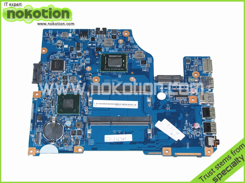 NOKOTION 48.4VM02.011 NBM1K11001 laptop motherboard for acer asipre V5-571 HM77 GMA HD4000 DDR3 Mianboard Free Shipping laptop motherboard for acer asipre m3 581t nbry811004 jm50 i3 2367m hm77 gma hd 3000 ddr3
