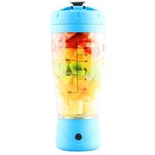 500 ML USB Wiederaufladbare Protein Shaker Tragbare Entsafter Mixer Tasse Plastikwasserflasche