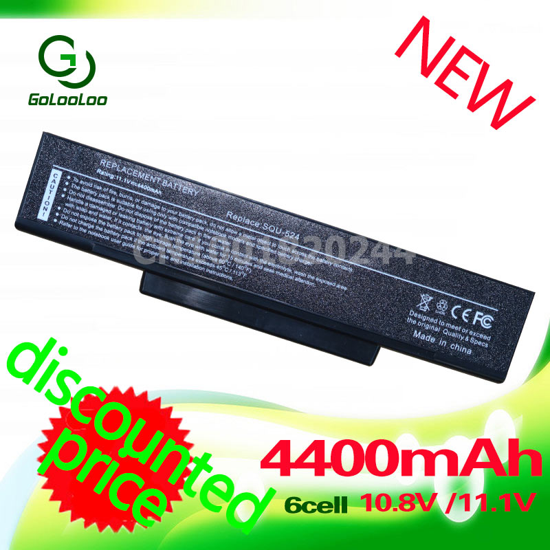 Golooloo 6Cell Laptop Battery for Asus F3J A9 A32-F3 A9R A9T A9W F2 F2F F2Hf F2J F2Je F3 F3E F3F F3H F3Ja F3Jc F3JF F3Jm F3Jp