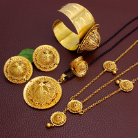 Fansheng lastest Ethiopia jewelry large size Sets gold color romantic bridal/party for women jewelry Sets