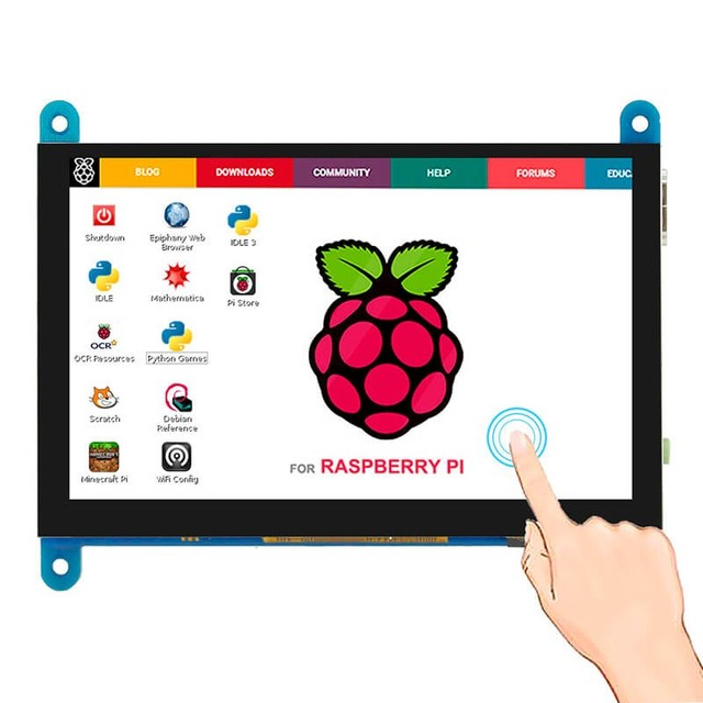 Elecrow 5 inch Portable Monitor HDMI 800 x 480 Capacitive Touch Screen LCD Display for SONY PS4/Raspberry Pi/ PC/Banana Pi