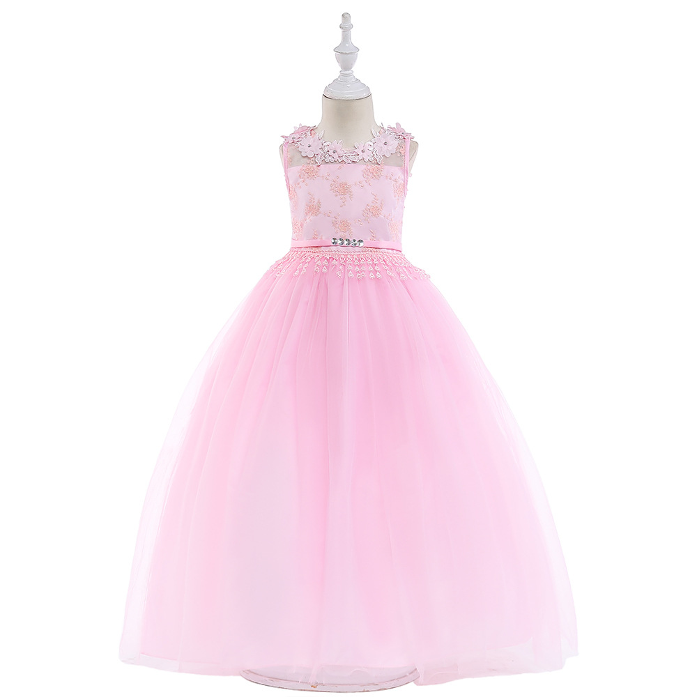 Pink   Flower     Girl     Dresses   2019 Vestido De Daminha Floor Length Wedding Party   Dress   Little   Girls   Communion Gowns