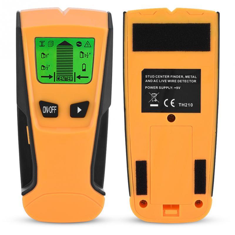 3 en 1 Detector de metales encontrar postes de madera de Metal voltaje de CA Live Wire Detect escáner de pared caja eléctrica buscador Detector de pared amarillo