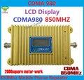Display LCD CDMA 980 850 Mhz Sinal Do Telefone Móvel CDMA Booste Repetidor Amplificador Cobertura 2000 quadrado Power Adapter + Free grátis