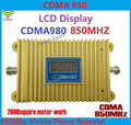 LCD Display CDMA 980 850Mhz Mobile Phone Signal CDMA Booste Repeater Amplifier Coverage 2000square + Power Adapter Free Shipping