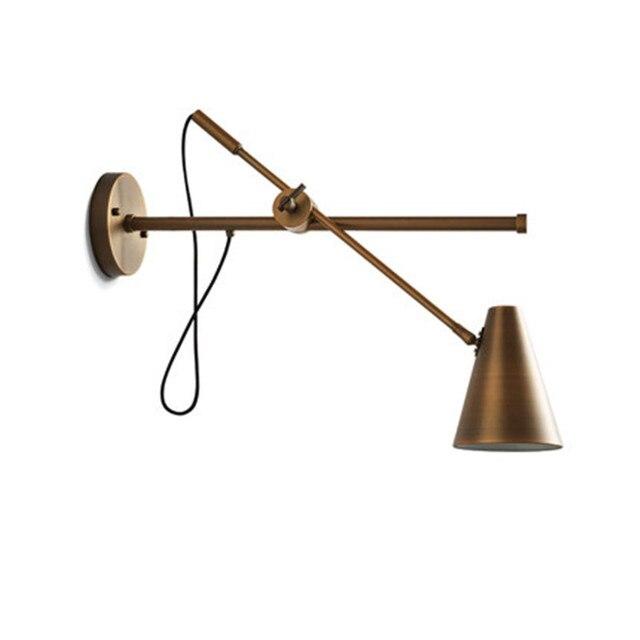 Loft Style Iron Rocker Arm LED Wall Light Fixtures Adjust Wall Sconce Industrial Vintage Lighting Indoor Antique Lamp Decorate