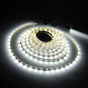 Image 5 - Striscia LED USB SMD3528 DC5V 1M 2M 3M 4M 5M con interruttore flessibile LED nastro luminoso nastro TV schermo del Desktop illuminazione di sfondo