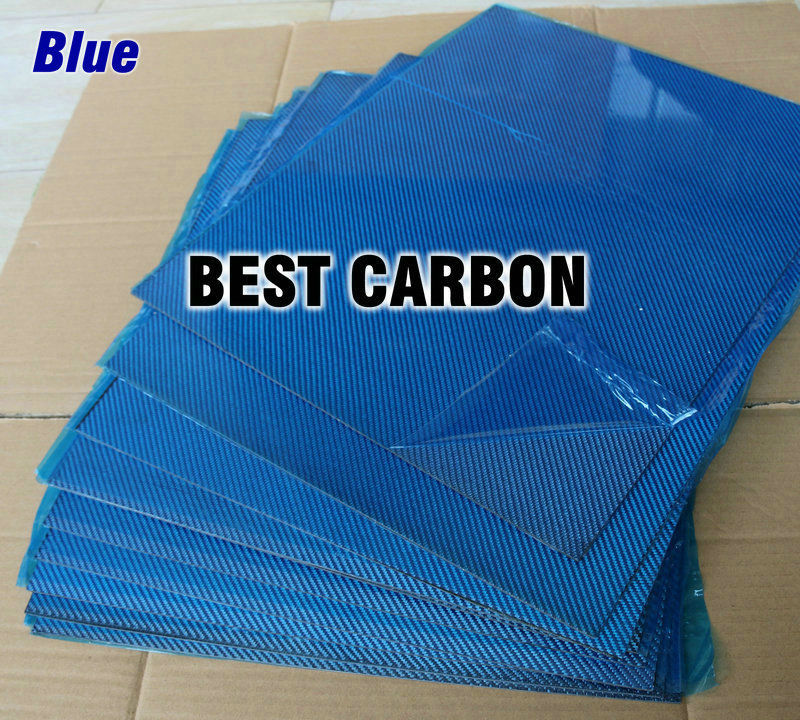 Free shipping 400mm x 500mm Blue color Carbon Fiber Plate, cf plate , carbon sheet ,carbon panel free shipping 400mm x 500mm yellow color carbon fiber plate cf plate carbon sheet carbon panel