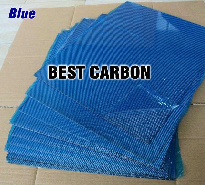 Livraison gratuite 400mm x 500mm couleur bleue plaque de Fiber de carbone, plaque cf, feuille de carbone, panneau de carbone