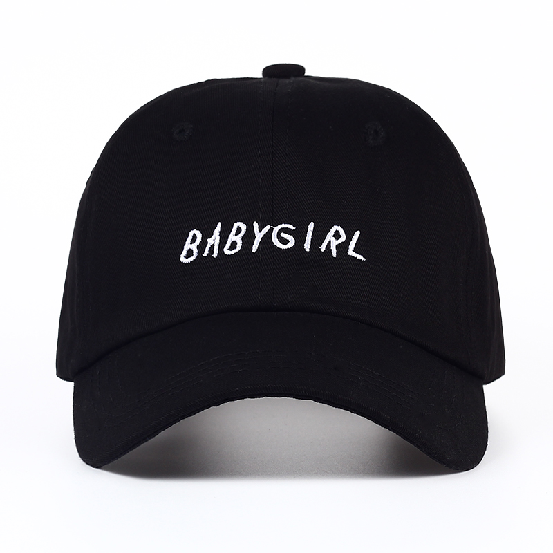ad591242 US $4.78 20% OFF|2017 new Baseball Cap BABYGIRL Embroidery baseball cap  Fashion Hats Dad Hat men women Black white snapback baseball cap-in Men's  ...