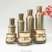 10pcs High Class Palace Arcylic Flower Lid Facial Cream Jar,DIY Elegant Empty Lotion Pump Bottle, Cosmetics Packaging Container