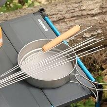 лучшая цена Rover Camel outdoor picnic Barbecue prod 5 pcs Titanium skewers grill BBQ meat brochette shish kebab skewers roasting needles