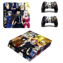 Anime Fairy Tail PS4 Slim Skin Sticker Decal Vinyl for Sony Playstation 4 Console and 2 Controllers PS4 Slim Skin Sticker